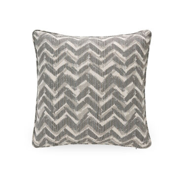 17 IN. SQUARE THROW PILLOW, MERRYL - SILVER, hi-res