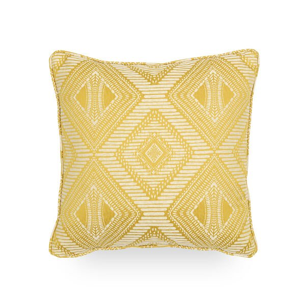 17 IN. SQUARE THROW PILLOW, CALYPSO - CANARY, hi-res