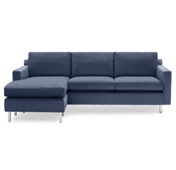 HUNTER STUDIO NO WELT 85 LEFT CHAISE SECTIONAL, PIPPIN - NAVY, hi-res