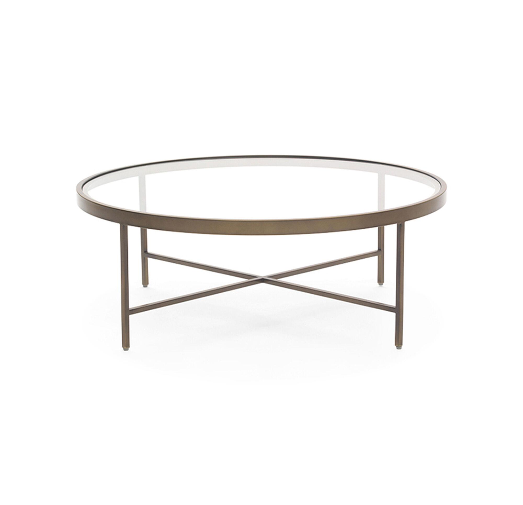 VIENNA ANTIQUE BRASS ROUND COCKTAIL TABLE
