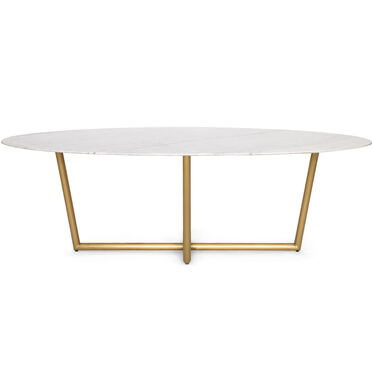 MODERN OVAL DINING TABLE, , hi-res