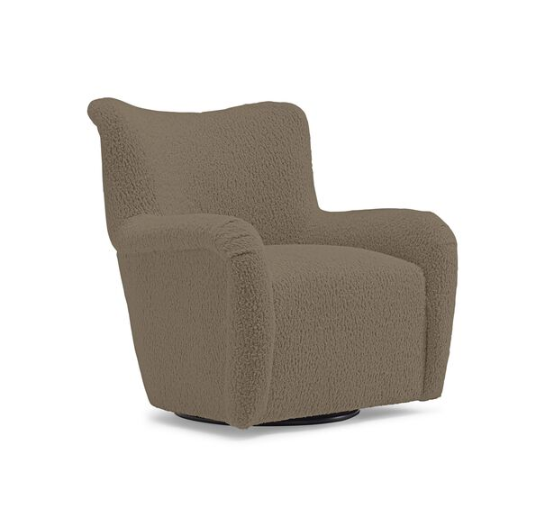 HUXLEY SWIVEL CHAIR, SHERPA - TAUPE, hi-res