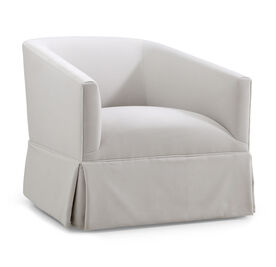 COOPER W/ SKIRT SWIVEL CHAIR, Performance Velvet - SILVER, hi-res