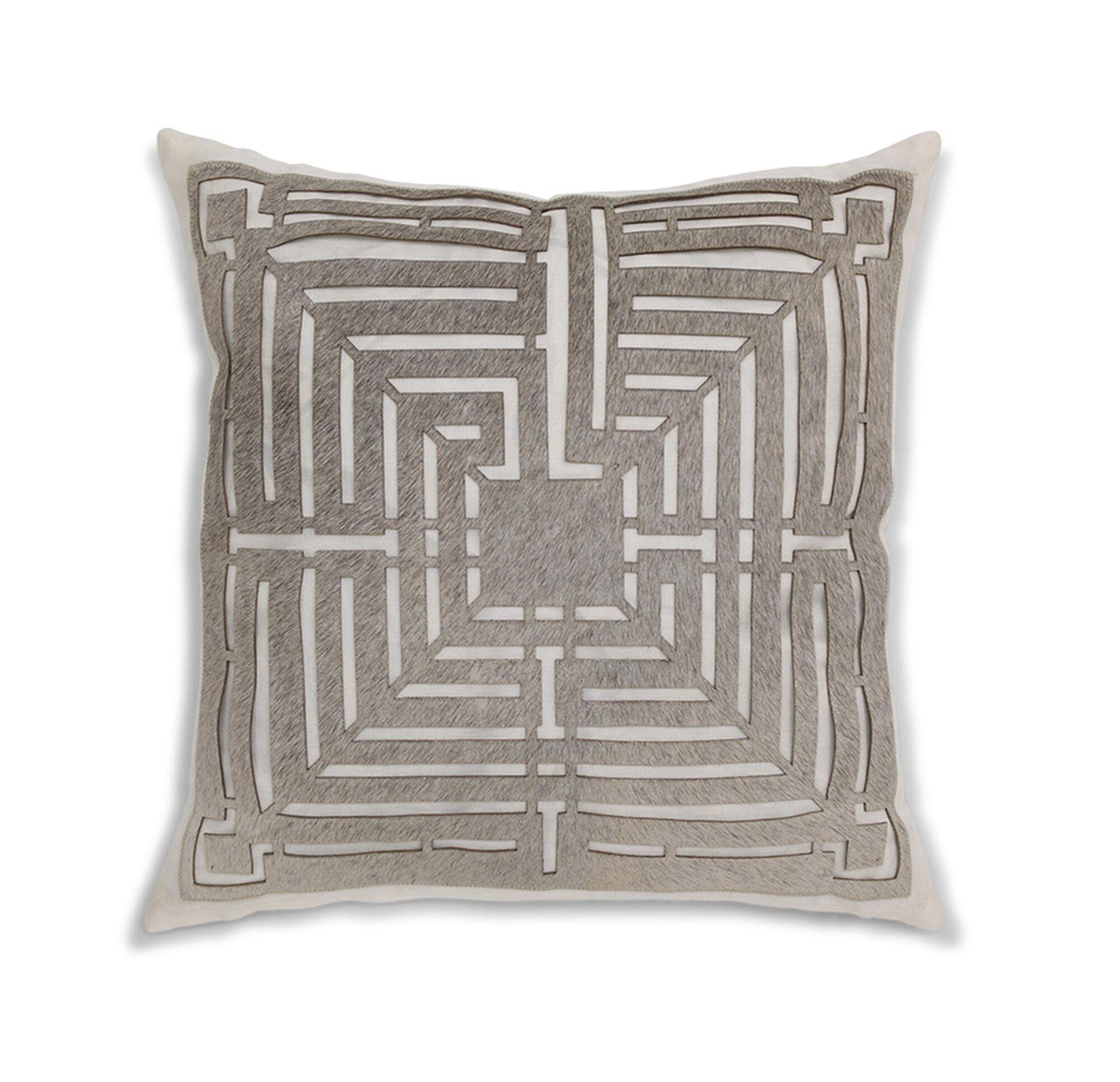 modern lasercut hide throw pillow -