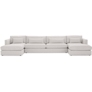 HAYWOOD U-CHAISE SECTIONAL, SOL - SILVER, hi-res