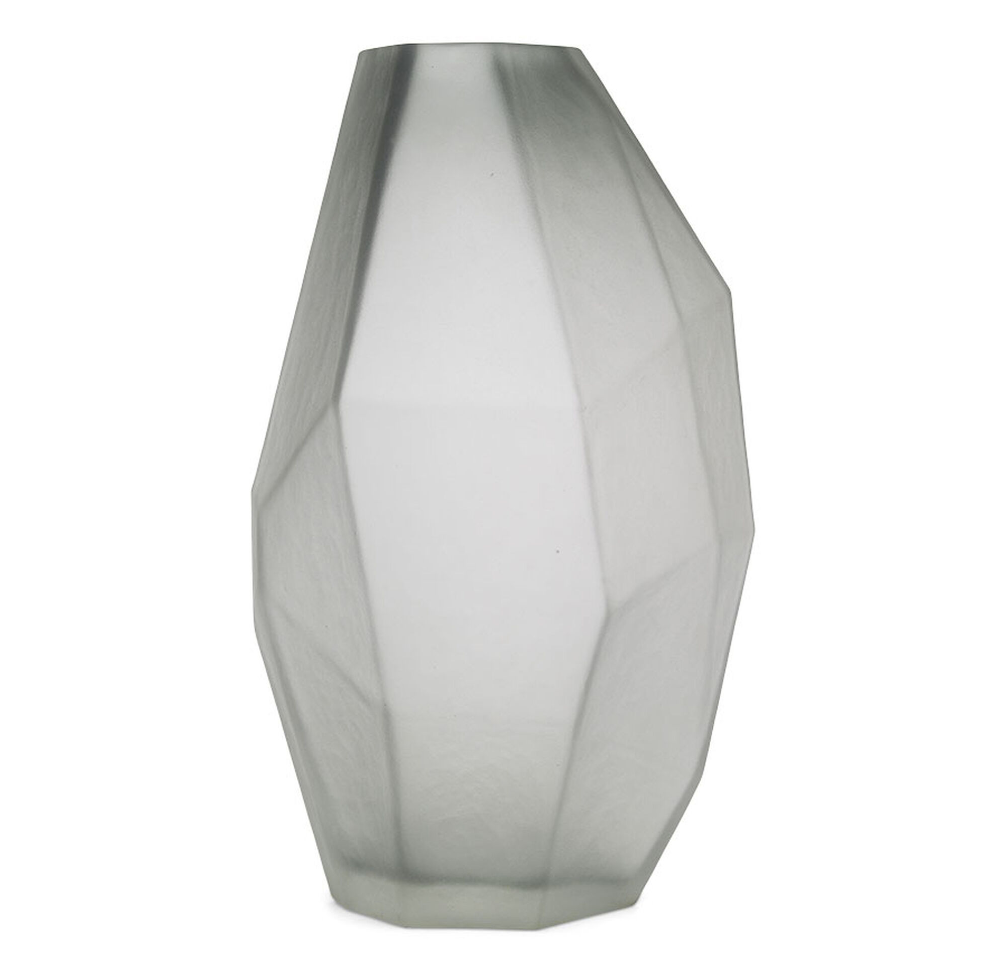 Faceted Gray Vase