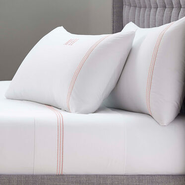 PEARL STITCH KING 4 PIECE SHEET SET - MONOGRAM, , hi-res