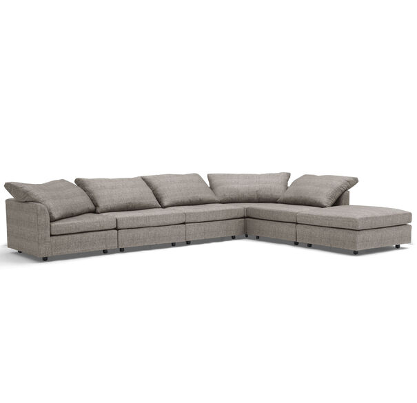 BIG EASY 6-PC SECTIONAL, COSTA - GRAPHITE, hi-res