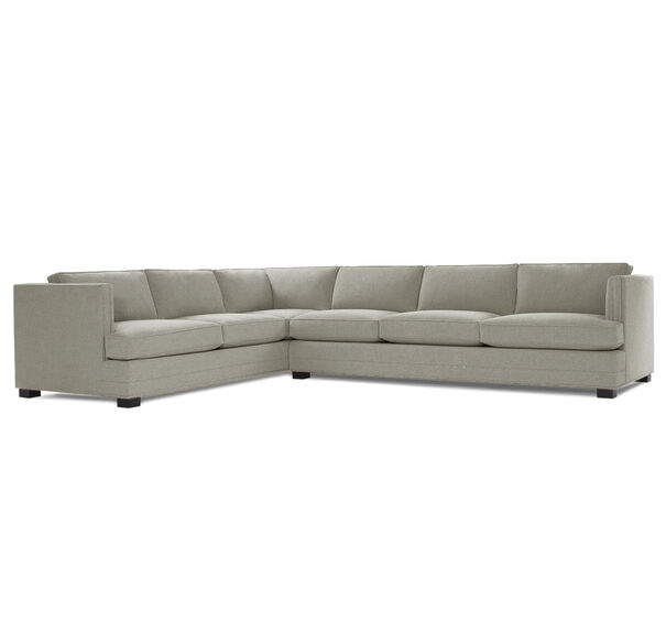 KEATON SHELTER RIGHT ARM SECTIONAL CLASSIC DEPTH WITH NAILHEAD, FULMER - EARTH, hi-res