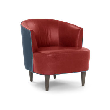 COSTELLO LEATHER CHAIR, MONT BLANC - CRIMSON, hi-res