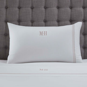 Pearl Stitch Twin 3 Piece Sheet Set Monogram, , hi-res