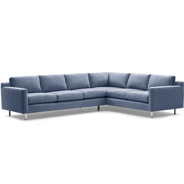 HUNTER STUDIO LEFT SECTIONAL SOFA, PIPPIN - NAVY, hi-res