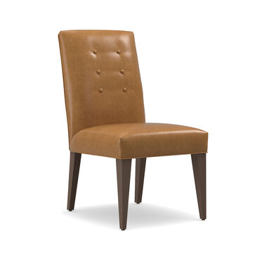 OLIVER LEATHER SIDE DINING CHAIR, MUSKOGEE - OAK, hi-res