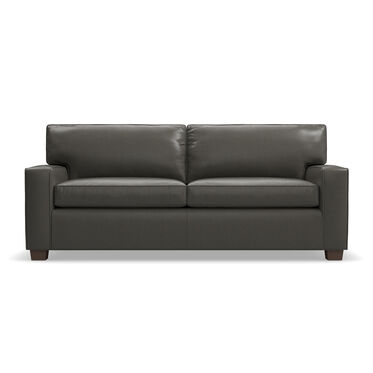 ALEX LEATHER SUPER LUXE QUEEN SLEEPER SOFA, MANCHESTER - GRAPHITE, hi-res