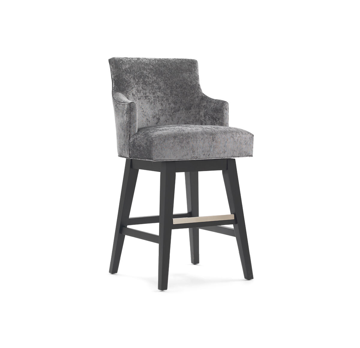 ADA RETURN SWIVEL BAR STOOL - WITH ARMS  hi-res  sc 1 st  Mitchell Gold + Bob Williams : swivel bar stool with arms - islam-shia.org