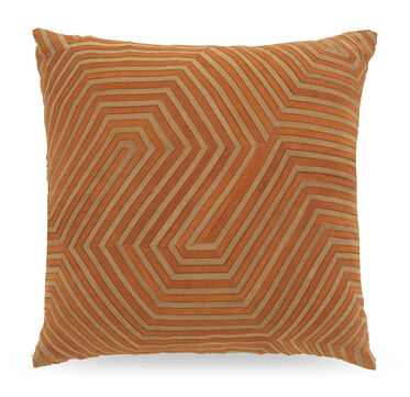 CITROUILLE TWO TONE SUEDE THROW PILLOW, , hi-res