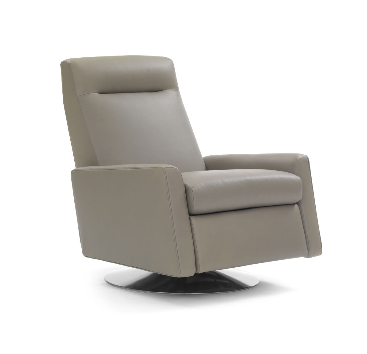 TILTON LEATHER RECLINER, VANCE   DRIFTWOOD, Hi Res