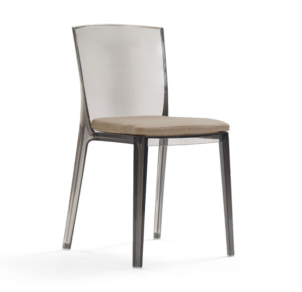 ALAIN SMOKE SIDE DINING CHAIR WITH CUSHION, TERRACE - CAFE, hi-res