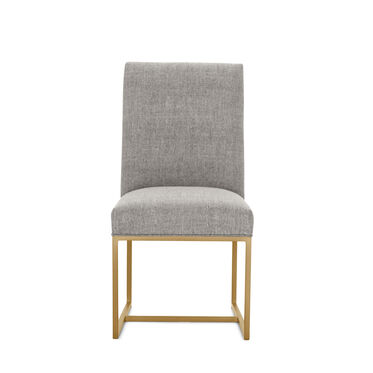 GAGE LOW DINING CHAIR - BRUSHED BRASS, COSTA - GRAPHITE, hi-res