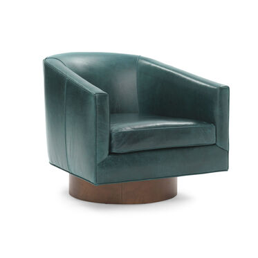 BIANCA RETURN SWIVEL LEATHER CHAIR, MONT BLANC - MOUNTAIN SPRING, hi-res