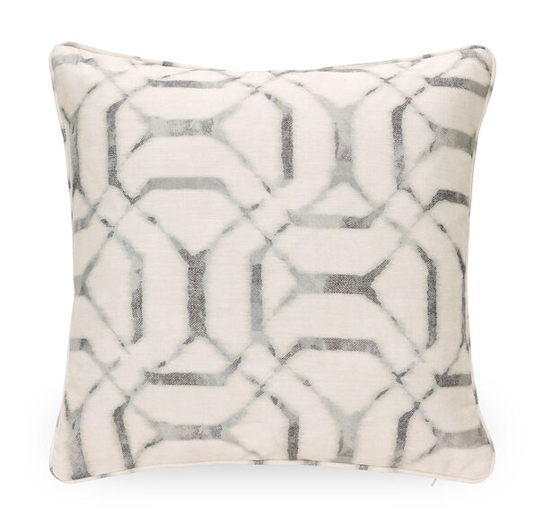 "COTTON 21"" X 21"" WELT ACCENT PILLOW, JEPARA - MINERAL, hi-res"