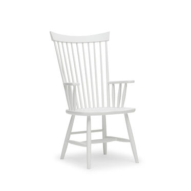 WINLEY ARM DINING CHAIR - WHITE, , hi-res