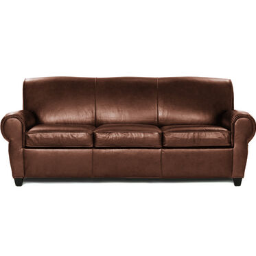 PHILIPPE LEATHER 3 SEAT SOFA, PENLAND - TOBACCO, hi-res