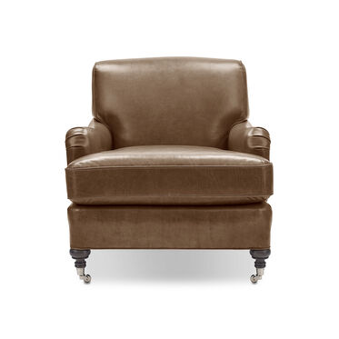 LONDON LEATHER CHAIR, MONT BLANC - TOFFEE, hi-res
