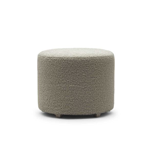 FRANNY ROUND PULL UP OTTOMAN, SHERPA - PEWTER, hi-res
