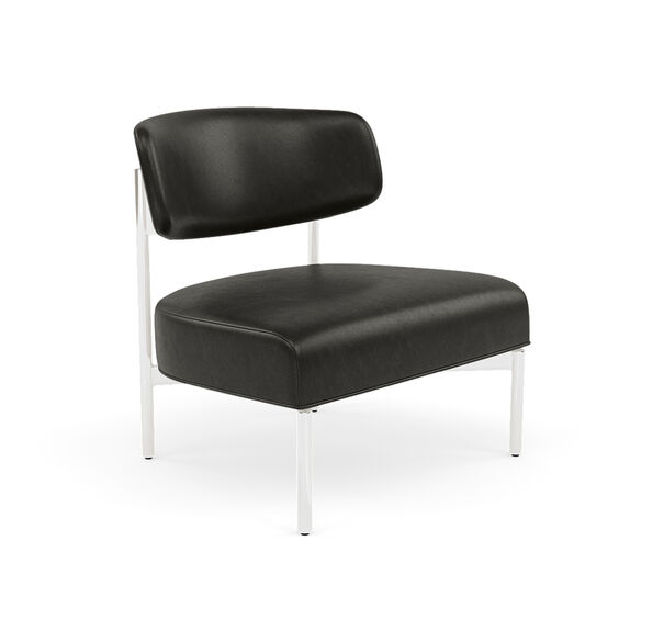 REMY LEATHER CHAIR, MONT BLANC - WOLF, hi-res