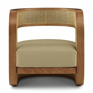 KIRBY CANED CHAIR, PERFORMANCE LINEN - KHAKI, hi-res