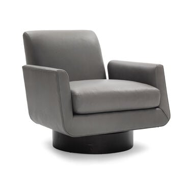 SUPERNOVA LEATHER RETURN SWIVEL CHAIR, VANCE - ANDIRON, hi-res