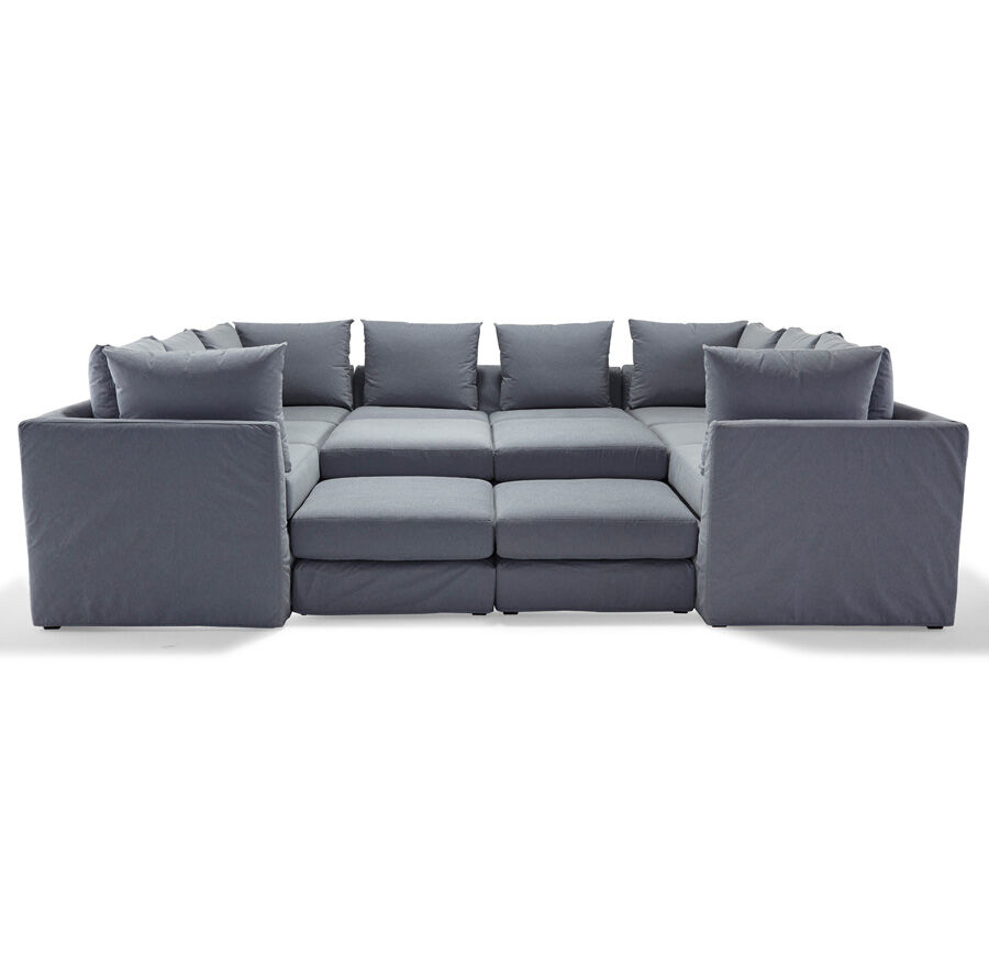 PITT 7-PC SECTIONAL SOFA CHAMBRAY - DENIM hi-res  sc 1 st  Mitchell Gold + Bob Williams : denim sectional sofa - Sectionals, Sofas & Couches