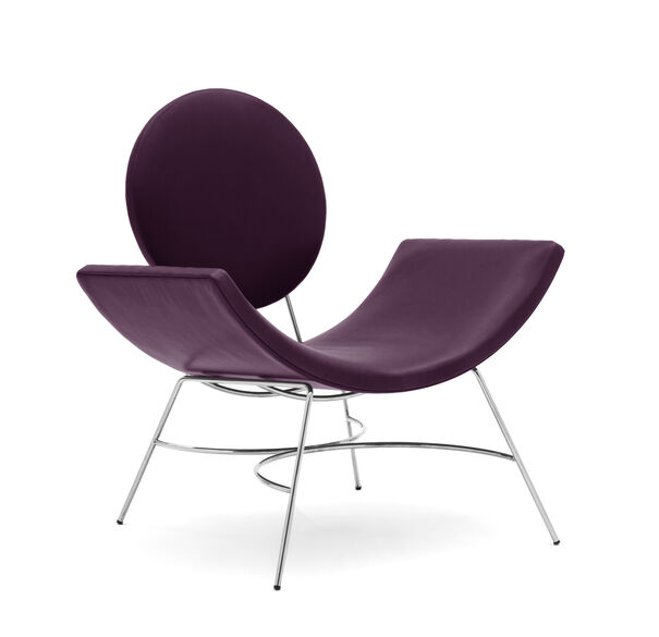 ELROY LEATHER CHAIR, MONT BLANC - AUBERGINE, hi-res