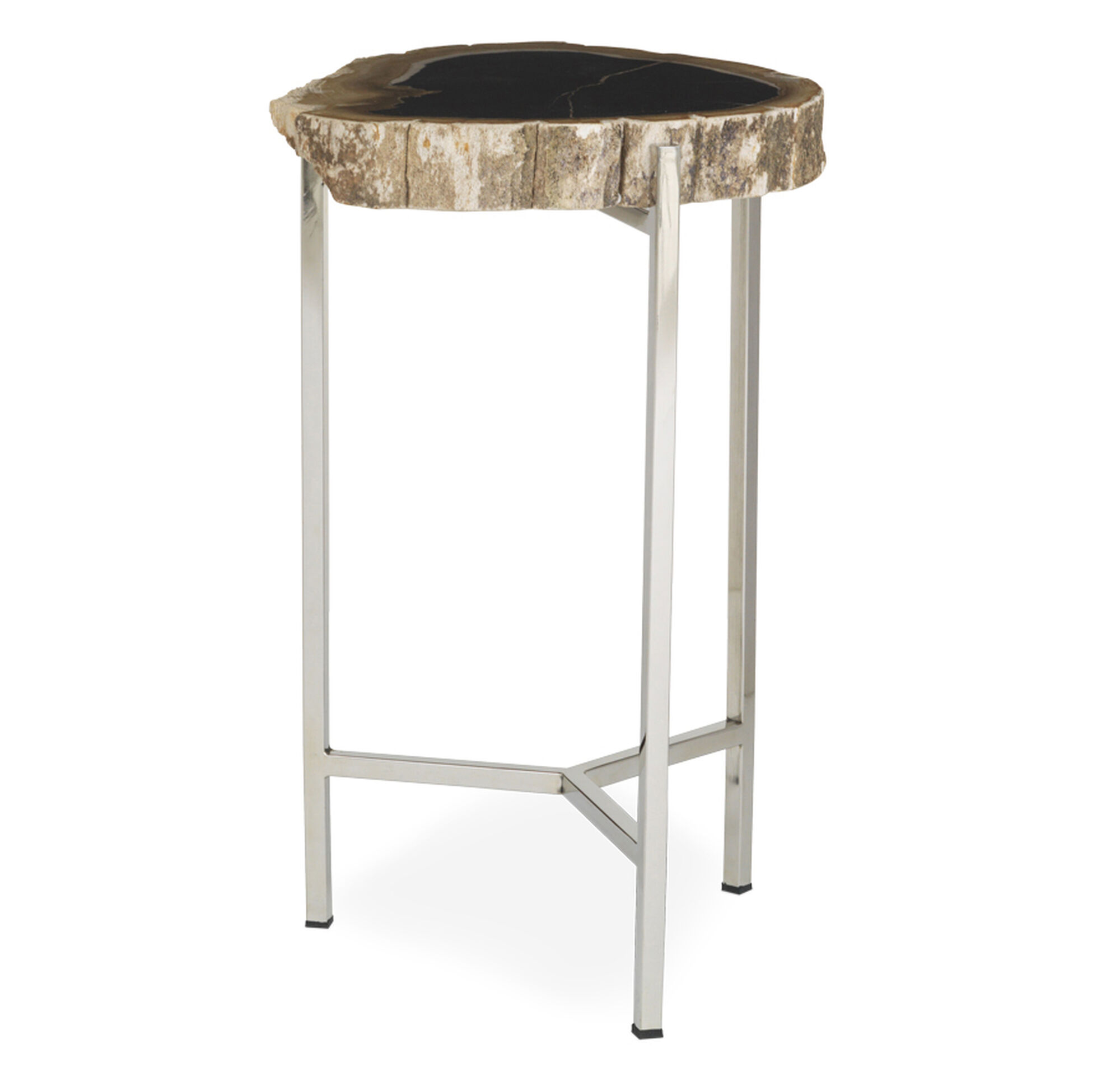 PETRIFIED WOOD PULL UP TABLE