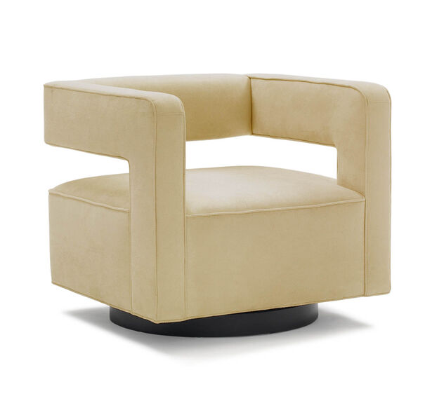 NICO FULL SWIVEL CHAIR, SOFT SUEDE - HONEY, hi-res