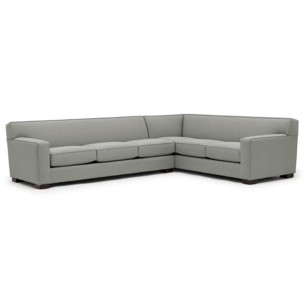 JEAN LUC LEFT SECTIONAL, Performance Textured pebble Weave - STEEL                             , hi-res