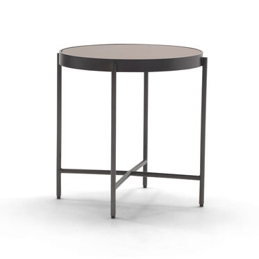 TURINO MIRROR BUNCHING SIDE TABLE - BRONZE, , hi-res