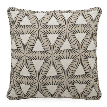 "LINEN 20"" X 20"" ACCENT PILLOW, DAYTON - STONE, hi-res"