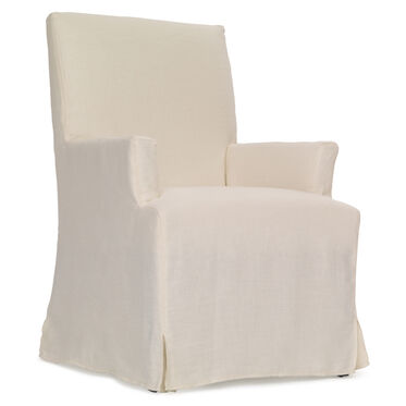 JULIA ARM DINING CHAIR - SLIPCOVER, , hi-res