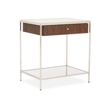 MANNING 1 DRAWER SIDE TABLE - WALNUT, , hi-res