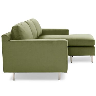 HUNTER STUDIO NO WELT 95 RIGHT CHAISE SECTIONAL, PIPPIN - VERDE, hi-res
