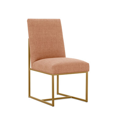 GAGE LOW DINING CHAIR - BRUSHED BRASS, COSTA - PERSIMMON, hi-res