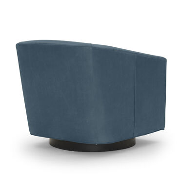 COOPER LEATHER SWIVEL CHAIR, MONT BLANC - BLUE SMOKE, hi-res
