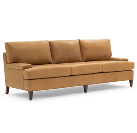 COLTON 81 LEATHER SOFA, MONT BLANC - FAWN, hi-res