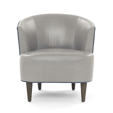 COSTELLO LEATHER CHAIR, MONT BLANC - MIST, hi-res