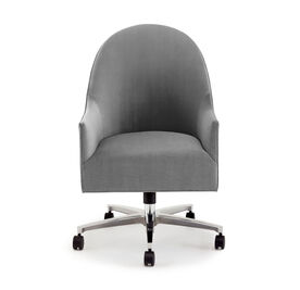 BELLA DESK CHAIR, Performance Micro Velvet - SILVER, hi-res