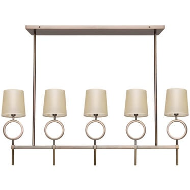 MARCO CHANDELIER - AGED BRASS PARCHMENT SHADE, , hi-res