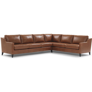 GIGI LEATHER RIGHT SECTIONAL, DURHAM - OAK, hi-res