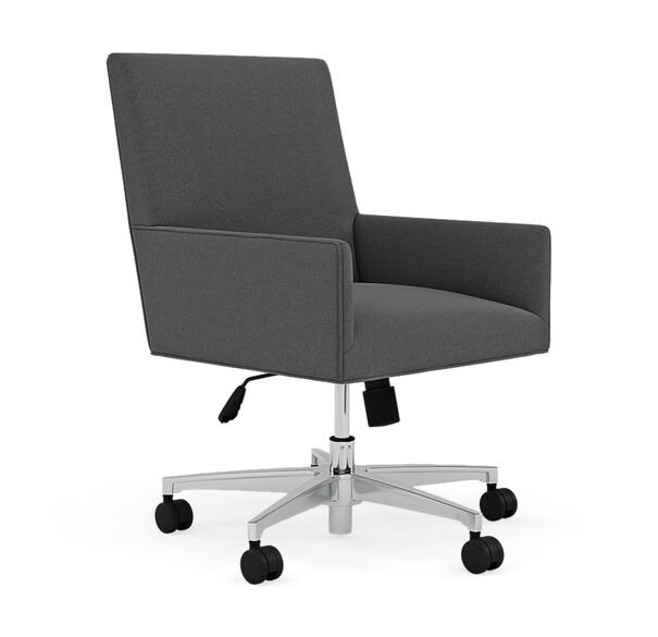 GAGE DESK CHAIR, Performance Textured Pebble Weave - Charcoal, hi-res